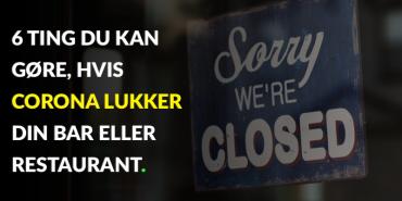 Billede at et skilt, der indikerer, at en restaurant er lukket