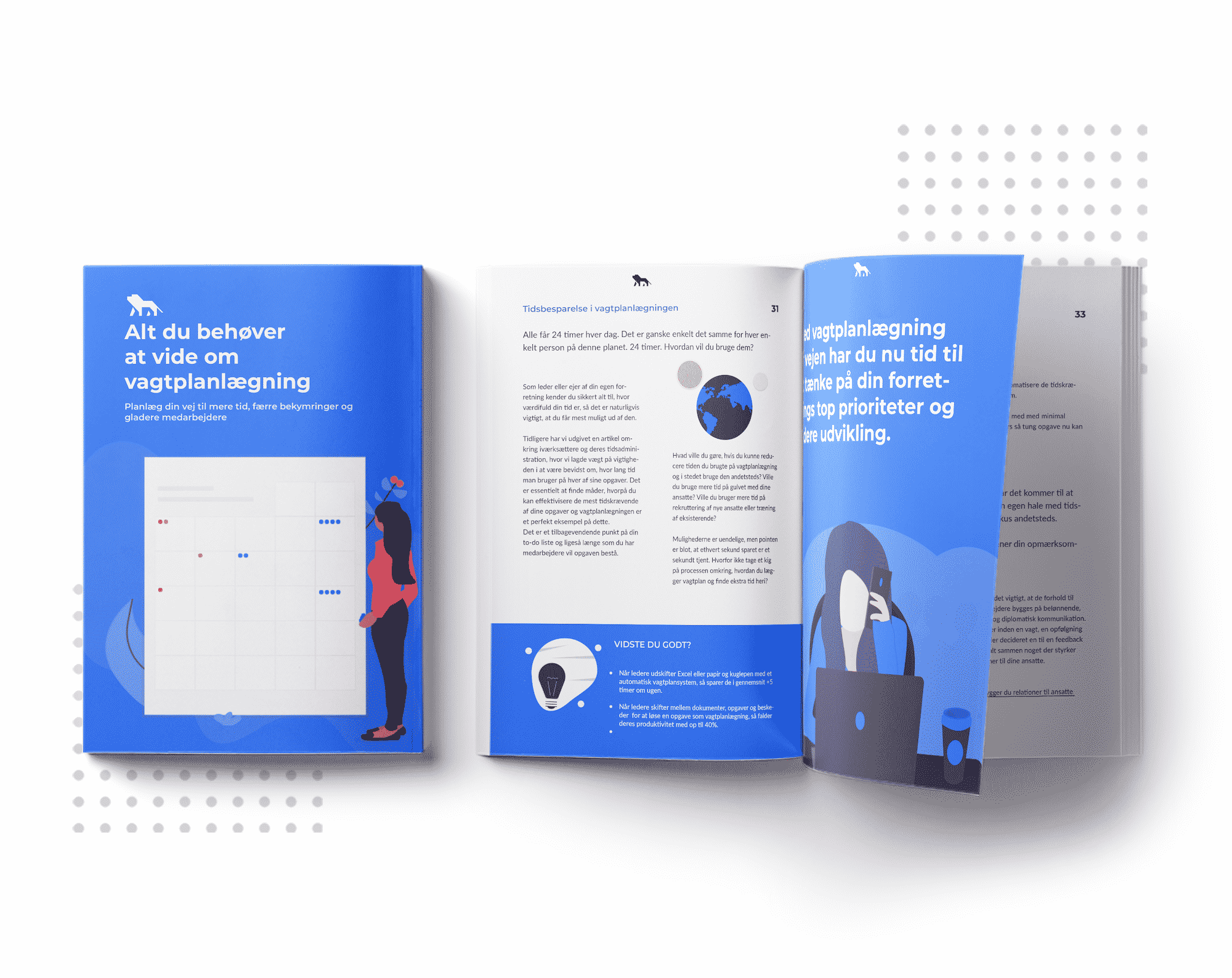 Illustration af e-bogen, Alt du behøver at vide om vagtplanlægning