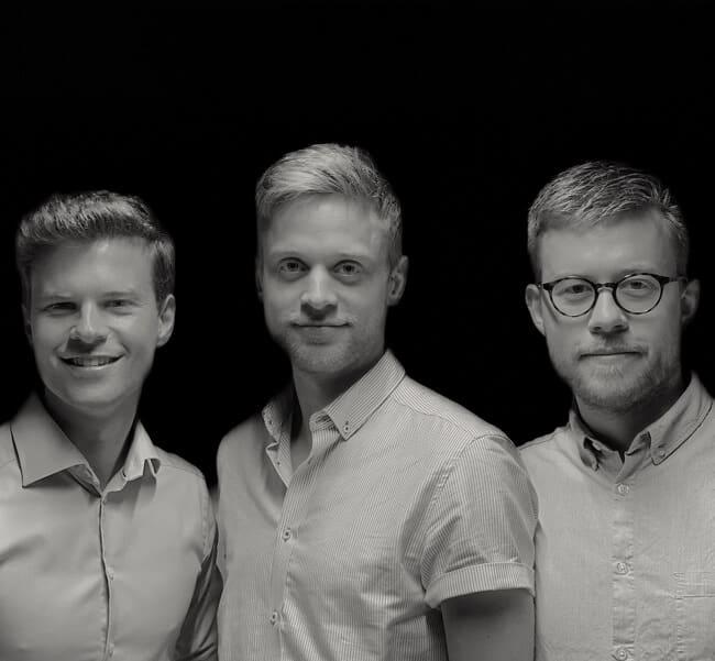 Jimmy Sørensen, Kristian Emil Larsen og Rasmus Skovdal er folkene bag Relion vagtplanen