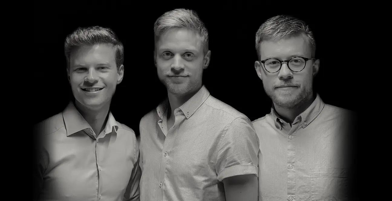 Jimmy Sørensen, Kristian Emil Larsen og Rasmus Skovdal